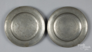 Two Love pewter plates