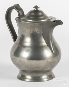 Large American pewter pitcher