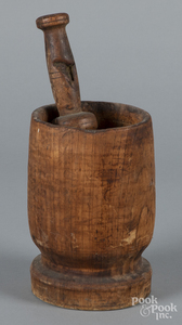 Turned mortar and pestle