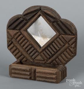 Tramp art comb wall box