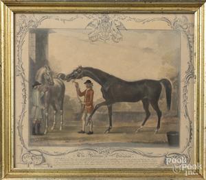 Two mezzotint racehorse portraits