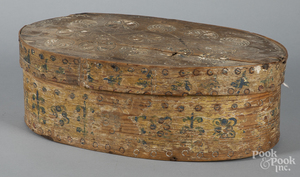 Scandinavian carved and painted brides box