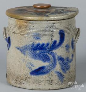 Pennsylvania stoneware lidded crock, etc.