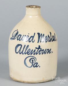 Allentown, Pennsylvania stoneware script jug, etc