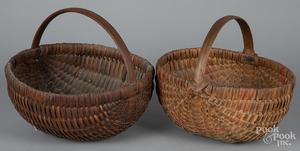 Two splint melon baskets, etc.