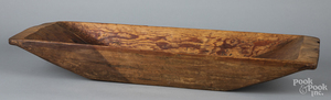 Large pine trencher, 19th c., 38