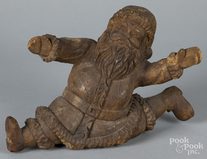 Carved Santa Claus, 20th c., 6
