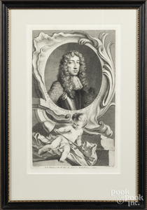 Seven 18th c. engravings of British notables