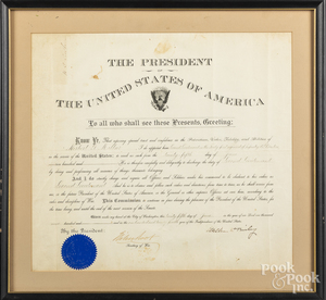 William McKinley signed presidential appointment