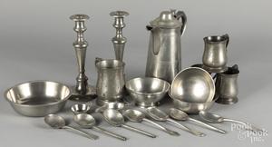 Pewter tablewares ,19th c., etc.