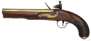 English flintlock pistol
