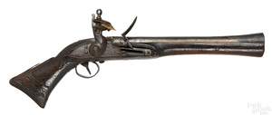 Middle Eastern flintlock blunderbuss pistol