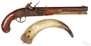 Contemporary flintlock pistol