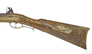 D. Campanelli full stock flintlock rifle
