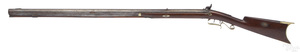 Percussion half stock back action long rifle