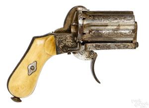 Lafaucheux system pepperbox pinfire pistol