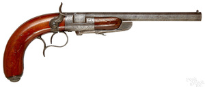French Baringer system breech loading pistol
