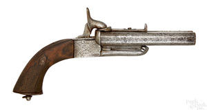 Belgian double barrel pinfire pistol