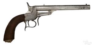 European single shot breech loading pistol