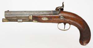 London marked percussion pistol