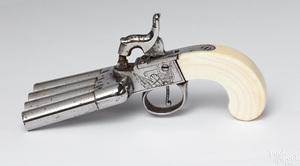 Contemporary 4 barrel ducks foot percussion pistol