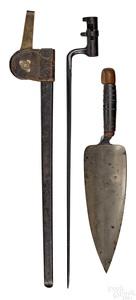 Two Springfield trapdoor bayonets