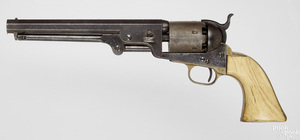Colt model 1861 Navy percussion six shot revolver