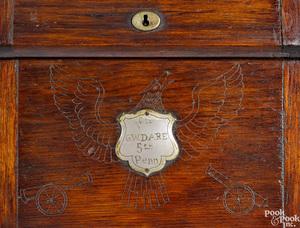 Civil War walnut lap desk of Colonel George Dare