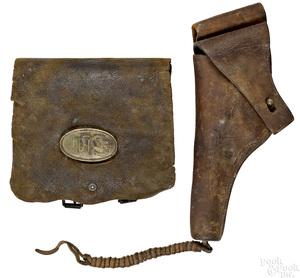 S. H. Young & Co. Civil War cartridge box