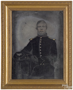 Full plate Civil War cavalry officer tintype