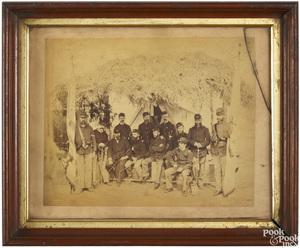 Three large cabinet card Civil War photographs