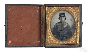 Confederate Civil War soldier ambrotype
