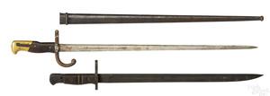 Two military bayonets