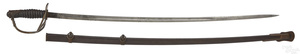 Model 1872 US cavalry officers saber and scabbard