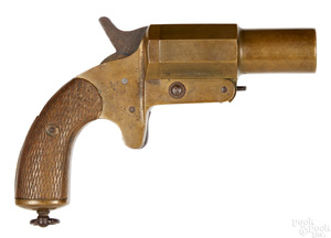 French, GG & Cie brass flare gun