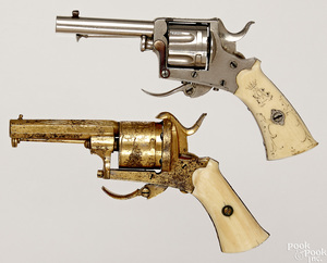 Pair of diminutive revolvers