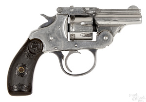 Iver Johnson nickel plated revolver