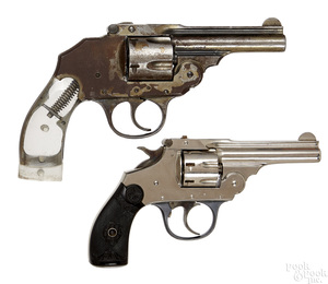 Two Iver Johnson safety hammer double action revolvers
