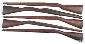 Five model 1903 stocks