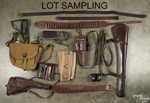 Miscellaneous lot of leather goods