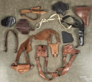 Miscellaneous group of leather goods