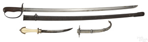 Japanese cavalry sword and scabbard, etc.