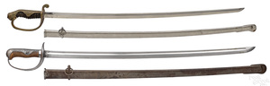 Two Japanese WWII swords