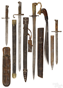 Five edged weapons and bayonets
