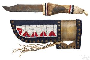 Native American Indian sheath knife