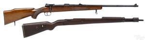 Sporterized byf Mauser K-98 bolt action rifle