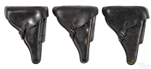 Three German WWII P-08 Luger holsters
