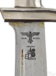 German Eickhorn Teno Nazi EM hewer and scabbard