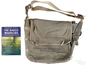 WWII identified Demolition Outfit UDT canvas bag