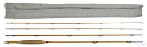 H. L. Leonard three-piece split bamboo fly rod